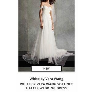 White by Vera Wang Soft Net Halter Wedding Dress